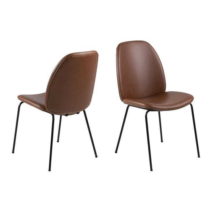 Set of 2 Chairs Mita | Brandy