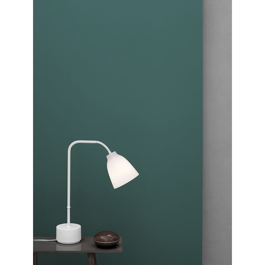 Table Lamp Caravaggio Read   Opal Glass