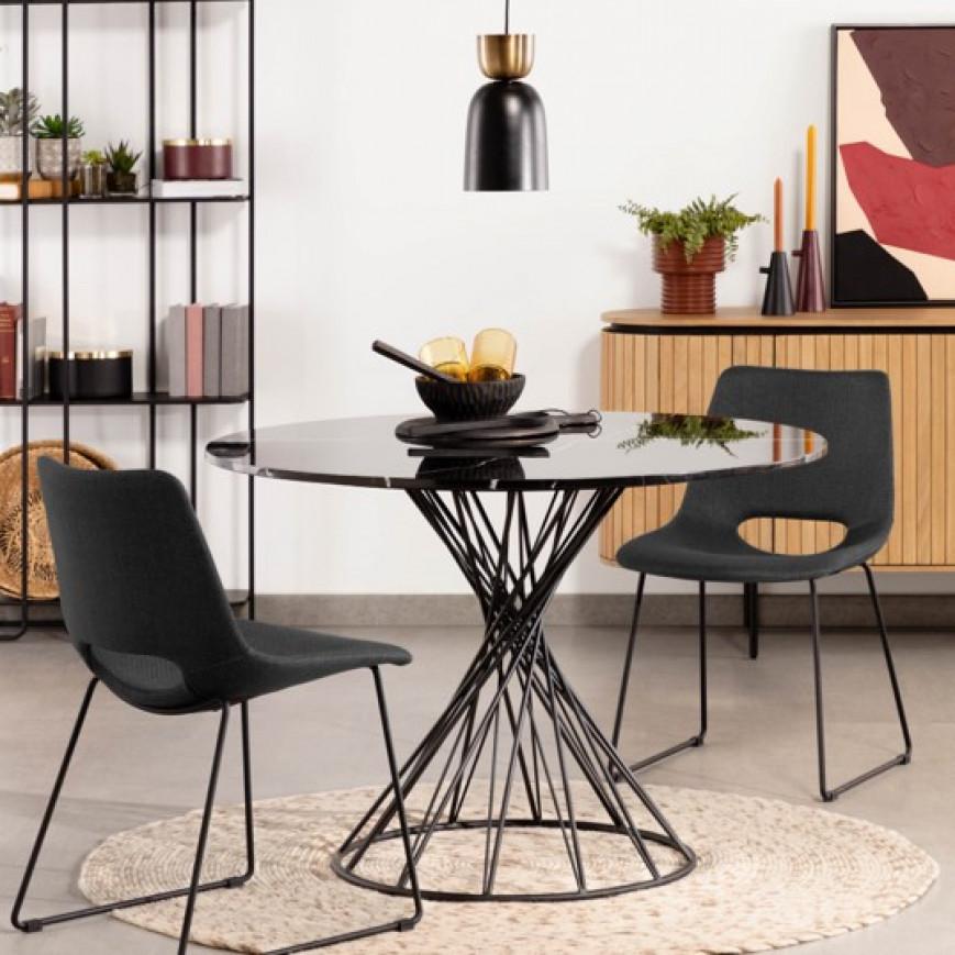 Set of 2 Chairs Ziggy | Dark Grey