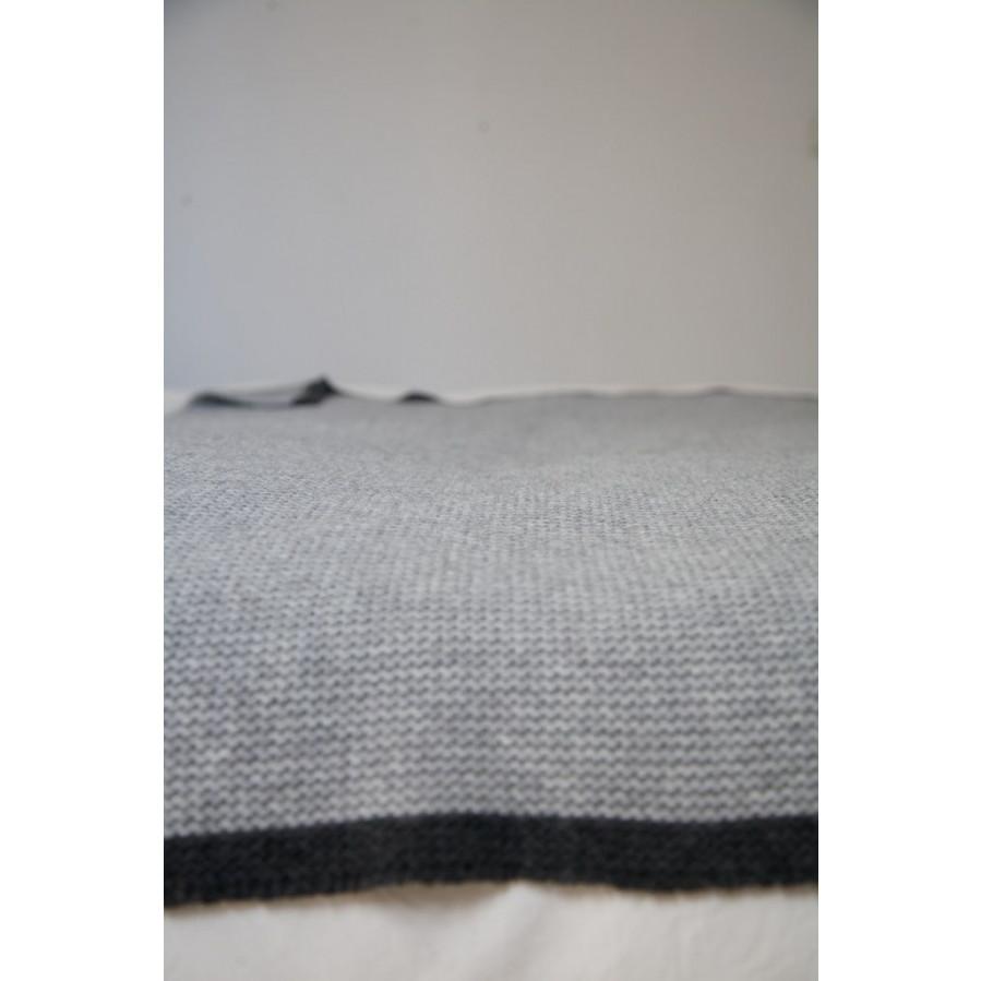 Kadaques Plaid- Grau/Schwarz-Groß