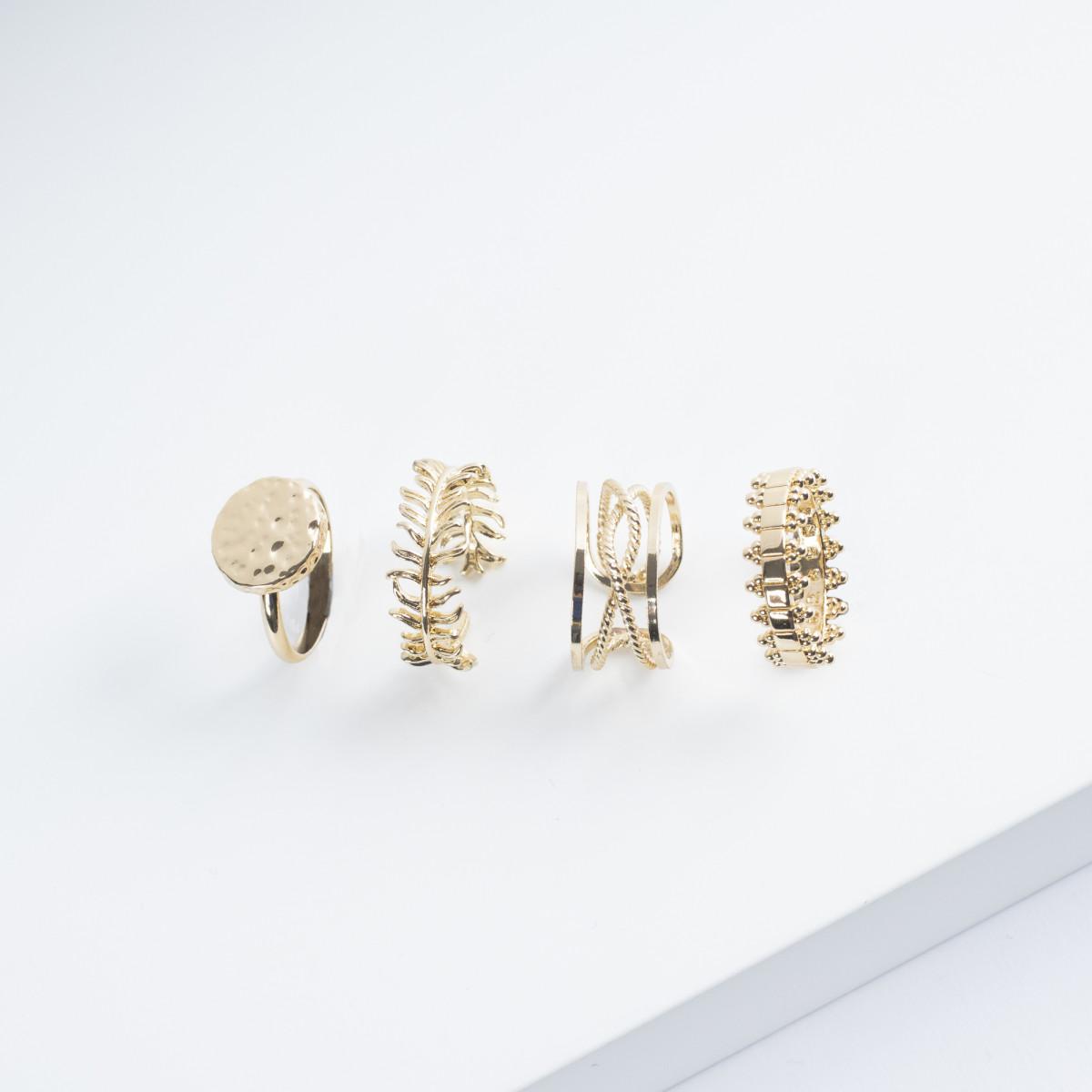 Kerze mit Goldener Ring | Lotusblume