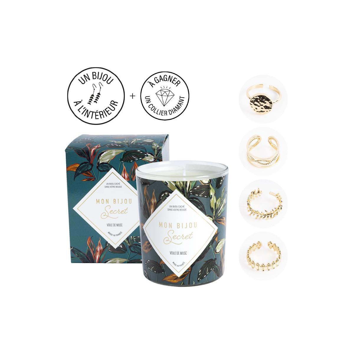Kerze mit Goldener Ring   Moschus