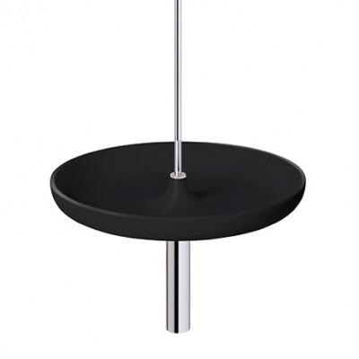 Circulum Bowl Ceiling | Chrome/Black