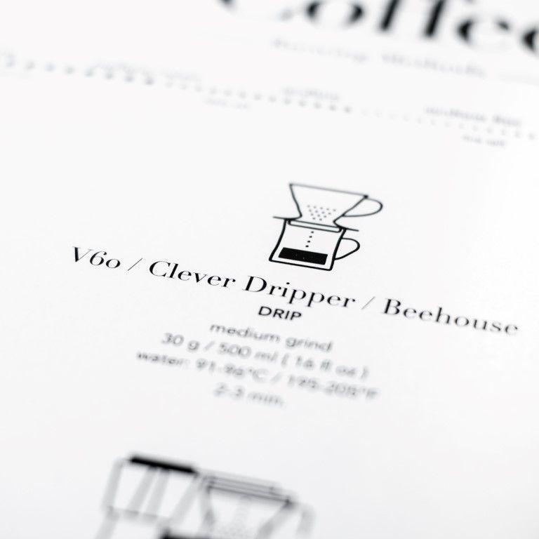 Poster Kaffeebrühverfahren | Weiß