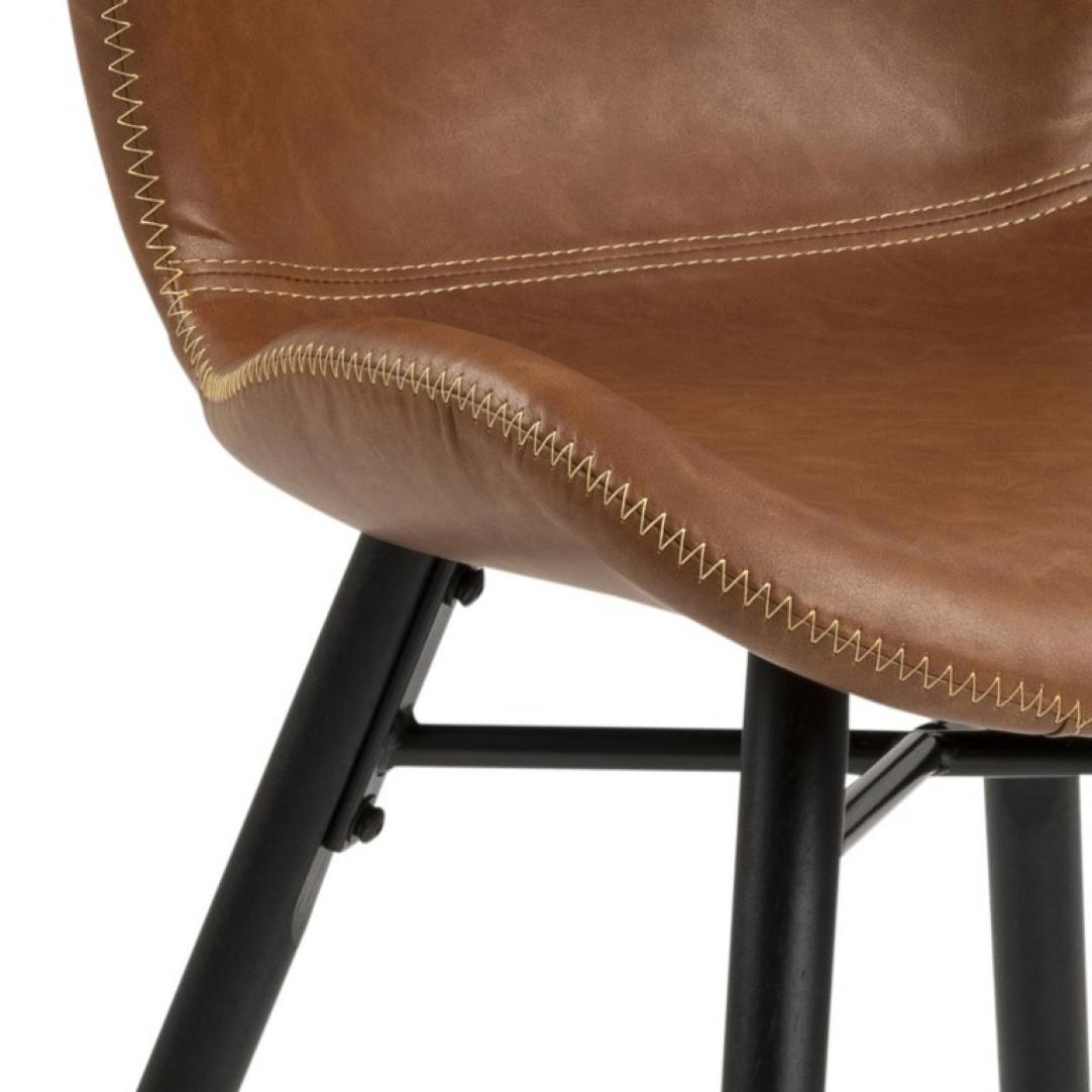 Set of 2 Chairs Matilda-A1   Brown & Black