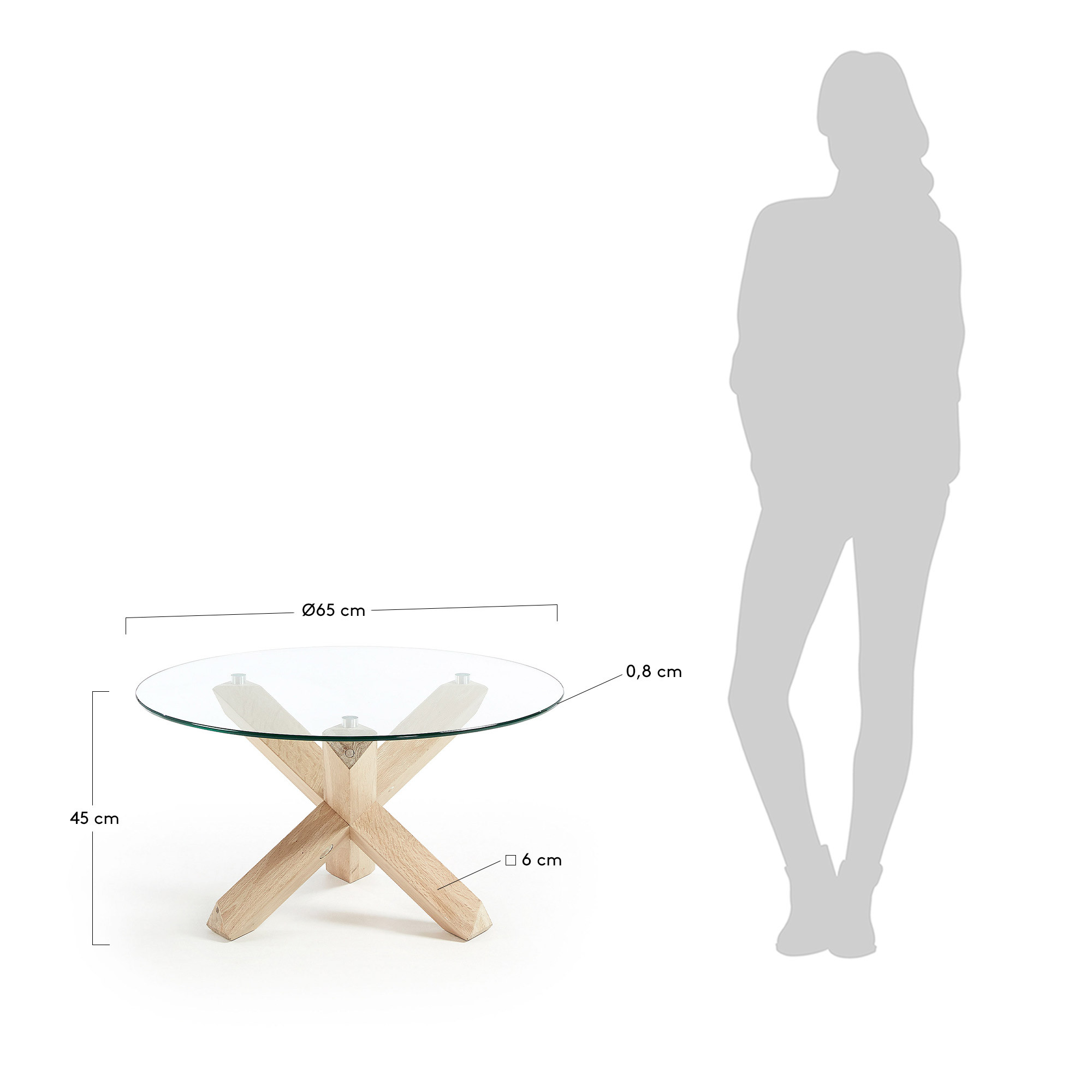 Side Table Rino   Transparent