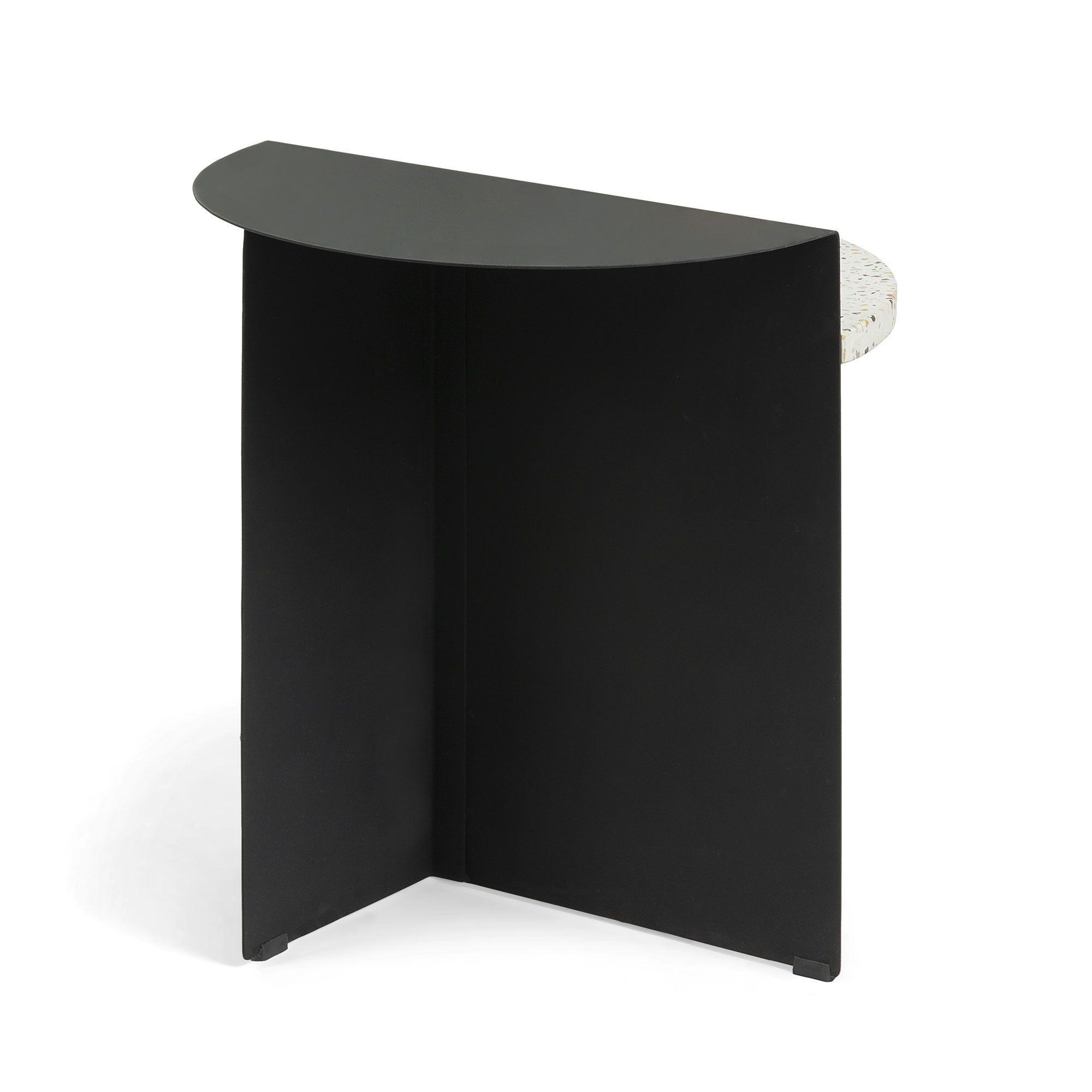 Side Table Chery   Black & White