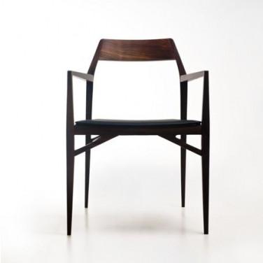 Chaise Aya    Bois de Noyer & Siège Noir