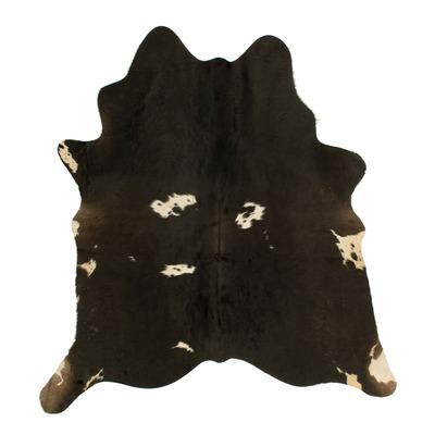 Einzigartige Kuhhaut   Schwarz, Dunkelbraun, Weiß, Grau & Beige