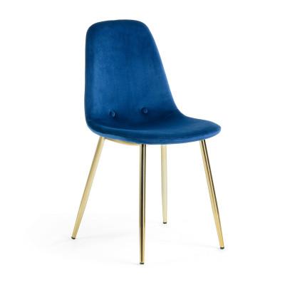 Stuhl Yara | Blau & Gold