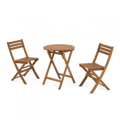 ELISIA Gartenset | Tisch & 2 Stühle