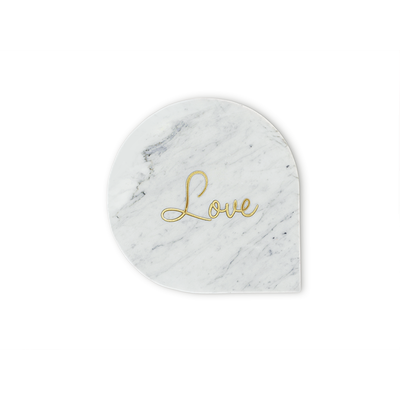 White Marble Tray   Love