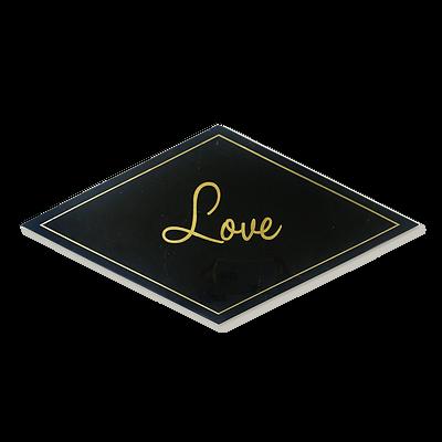 Black Marble Tray   Love