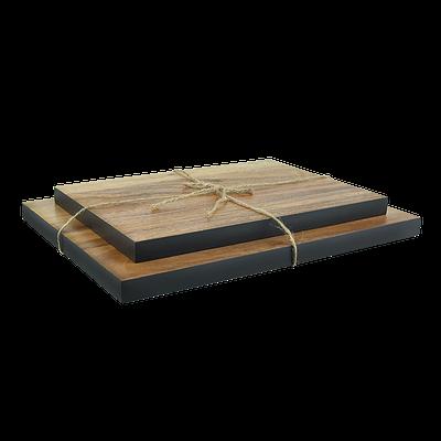 Acacia Wood Cutting Board Set