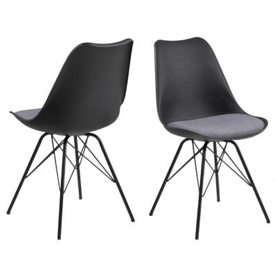 2-er Set Stühle Iris   Hellgrau