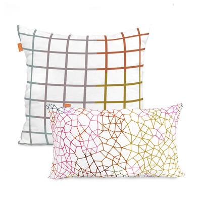 2er Set Kissenbezüge Net | 50x50cm + 50x30cm