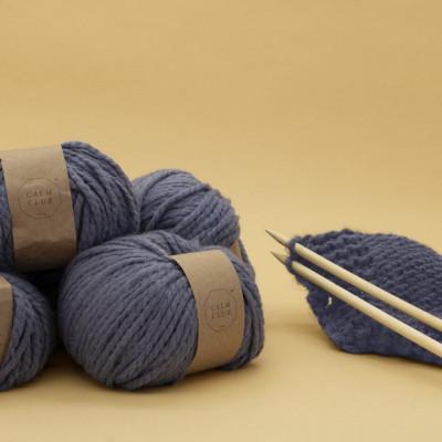 Wolldecken-Strickset   Calm Club Comfort Decke