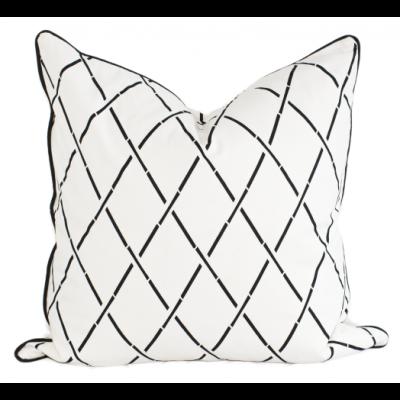 Hanoi Kissenbezug 50 x 50 cm | Weiß