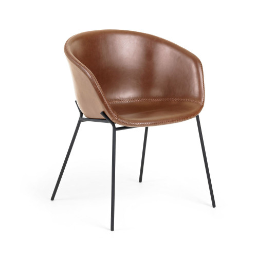 Chaise Vic Cuir Synthétique | Brun