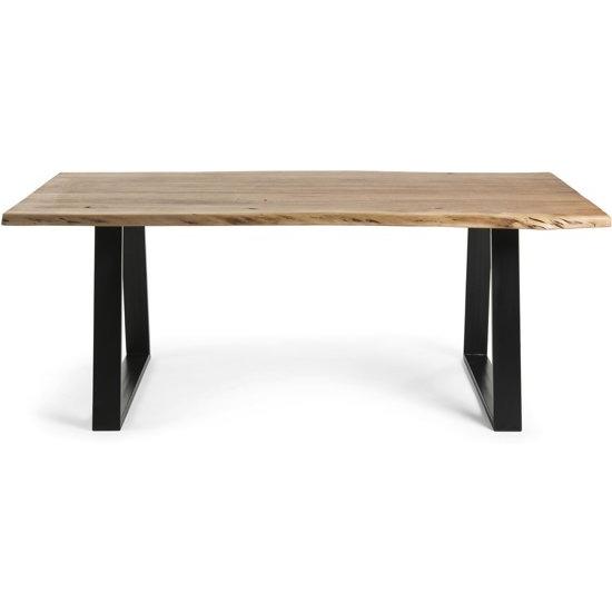 Dining Table Lobo | Light Wood & Black