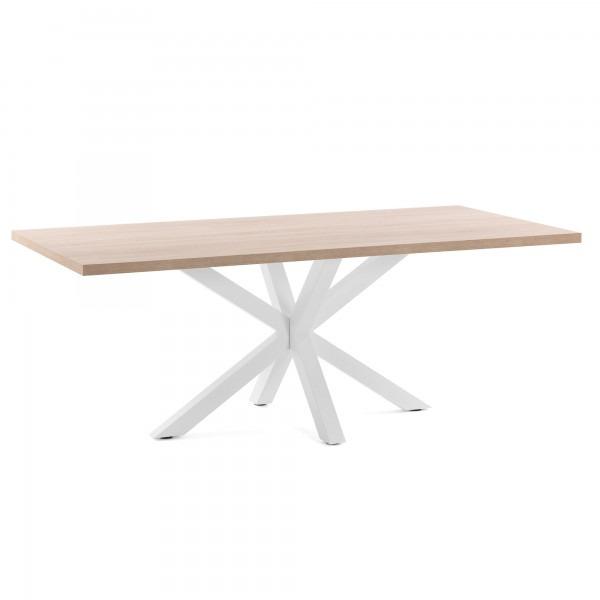 Dining Table Tonya | White & Light Wood