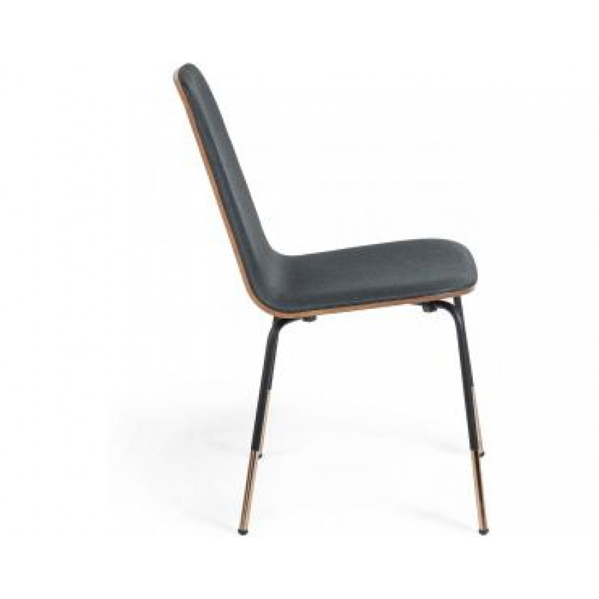 Chair Chrystel   Dark Grey & Wood