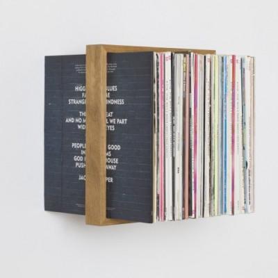 Regal b für Vinyl-Schallplatten | Natur