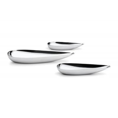 3-teiliges Schalen-Set Blob   Silber-Spiegel poliert