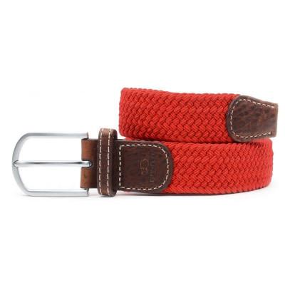 Braided Women's Belt | Pomegranate Red