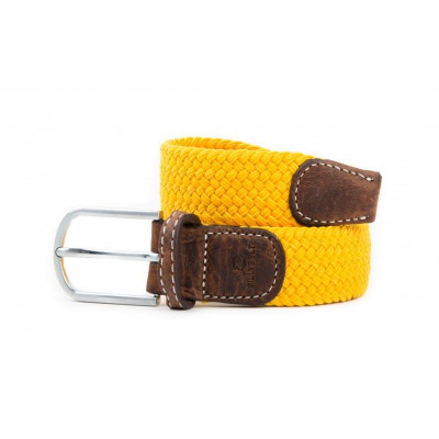 Braided Men's Belt | Saffron Yellow