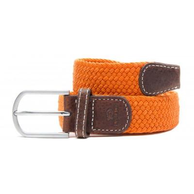 Braided Women's Belt | Apricot Orange