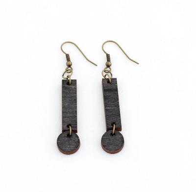 Cerilla Earrings   Black Wood