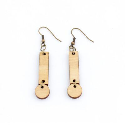 Cerilla Earrings   Light Wood