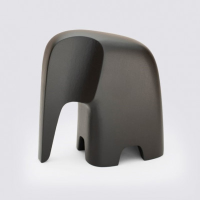 Figur Elefant   Buchenholz   Schwarz