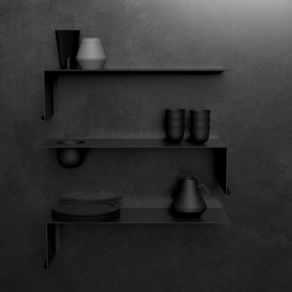 SHELVE01 W. BOWL | Black Right