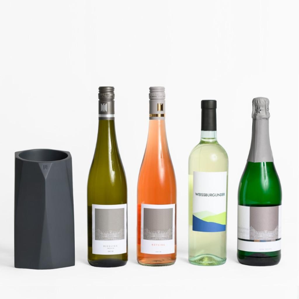 Flaschenkühler Charles Beton | Anthrazit