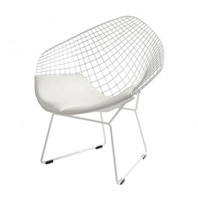 Stuhl Diament | Weiß + Weiß Kissen