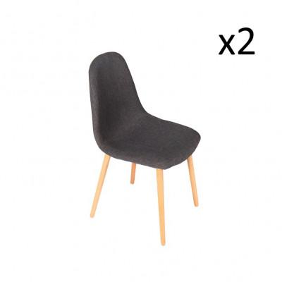 Stuhl Verona 2er-Set | Grau