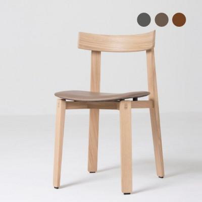 Stuhl Nora | Weißes Öl / Leder