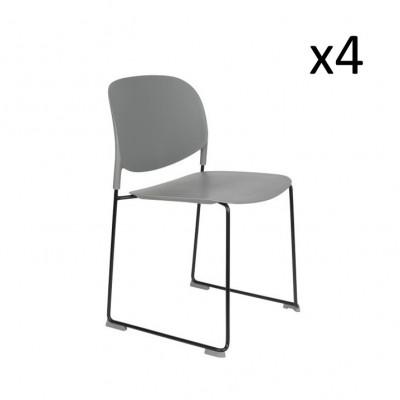 Stuhl Stacks - 4er Set | Grau