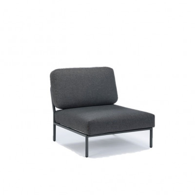 Garten-Lounge-Stuhl Level | Grau