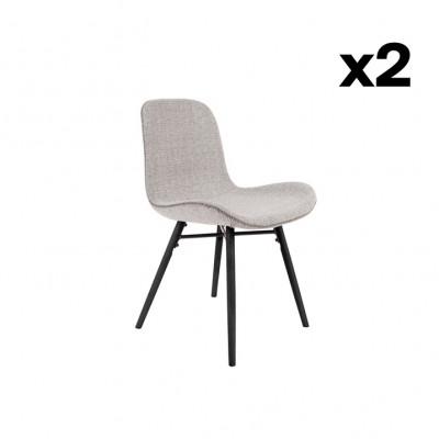 2-er Set Stühle Lester | Hellgrau