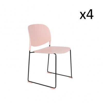 Stuhl Stacks - 4er Set | Rosa