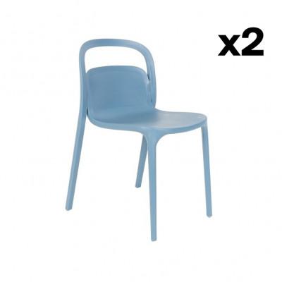 Stuhl Rex - 2er Set | Blau