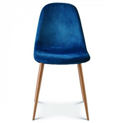 Stuhl Josef Velvet | Blau Saxo/Holz