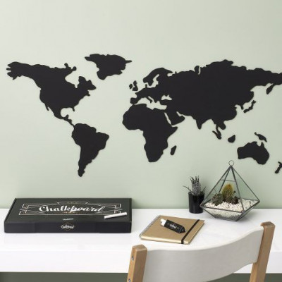 Scratch Map I Chalkboard 'Map of the World'