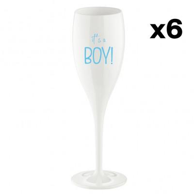 Champagnergläser It's a boy   6er-Set