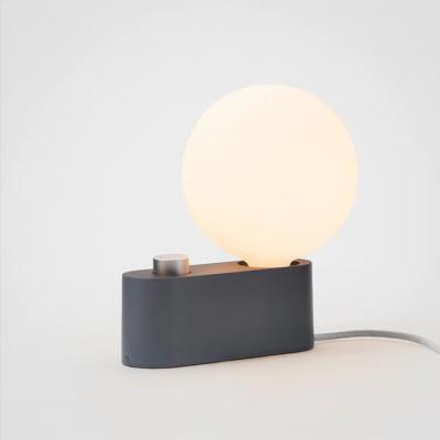 Lampe Alumina Charcoal mit Kugel XL Glühbirne   Schwarz