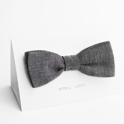 Reversible Bow Tie | Charcoal