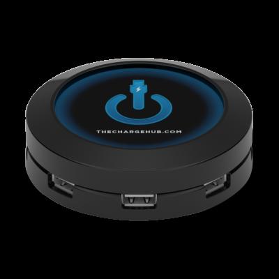 ChargeHub™ – 7-Port USB Universal Charging Station   Black
